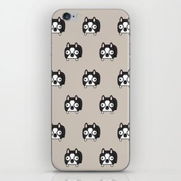 Boston Terrier Loaf - Black and White Dog iPhone Skin