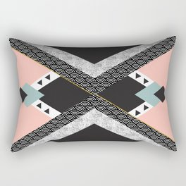 Abstract composition of textures with geometric shapes Rectangular Pillow