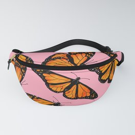 Monarch Butterfly Pattern-Pink Fanny Pack