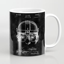 Welding Goggles Blueprint Coffee Mug
