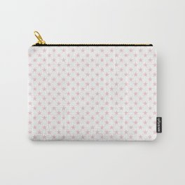 Millennial Pink Pastel Stars on White Carry-All Pouch
