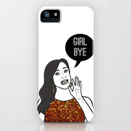Girl Bye iPhone Case
