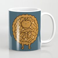 pi Mugs featuring Apple Pi by Perdita