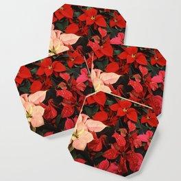 Poinsettia Christmas Holiday Flowers Coaster
