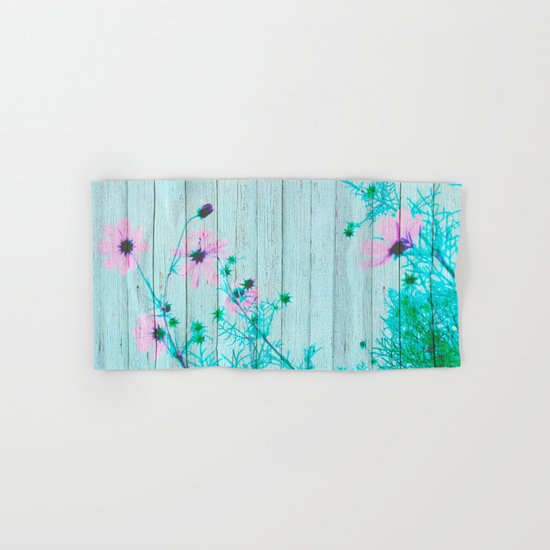 Sweet Flowers on Wood 07 Hand & Bath Towel