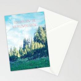 Consider How the Wildflowers Grow Stationery Cards