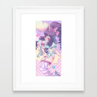 lolita Framed Art Prints featuring Lolita by Pich illustration