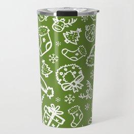 XMAS Green Pattern / Part Two Travel Mug