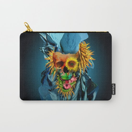 Floral Skull Vivid IV Carry-All Pouch