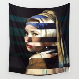 "Vermeer's ""Girl with a Pearl Earring"" & Grace Kelly Wall Tapestry"