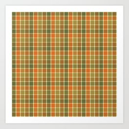 AUTUMN CHECK Art Print