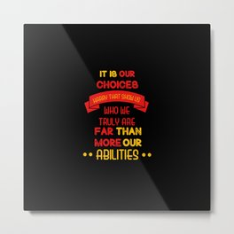 Harry Potter Quote Metal Print
