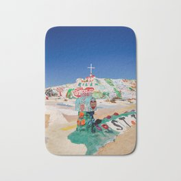 The colorful mountain Bath Mat