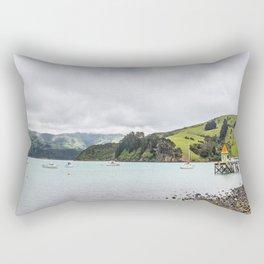 Daly's Pier, Akaroa, New Zealand Rectangular Pillow