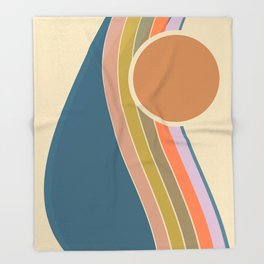 Pastel Sunrise Throw Blanket