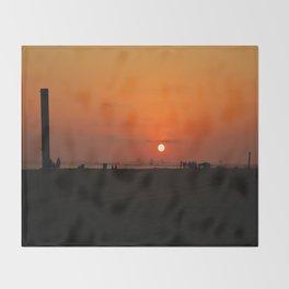 Sunset Beach lv Throw Blanket