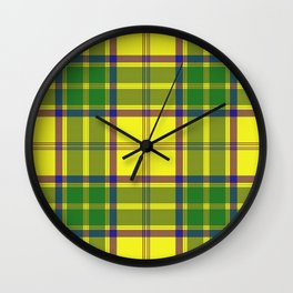 Checkered style Wall Clock