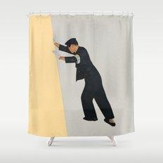 Pushing Boundaries Shower Curtain