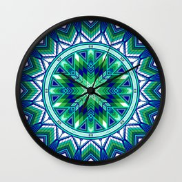 Sacred Places Green Wall Clock
