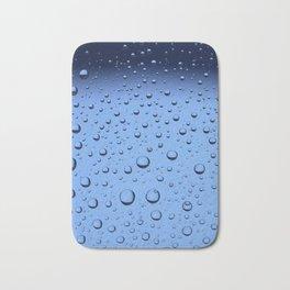 Blue Water Bubbles Bath Mat