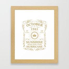 October 1941 Sunshine mixed Hurricane Framed Art Print