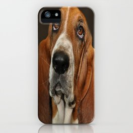 Lost In Thought Basset Hound Dog iPhone Case