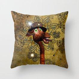Steampunk, giraffe Throw Pillow