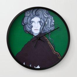 La dama verde está contenta Wall Clock