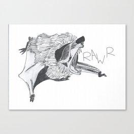 Roaring Bat Canvas Print