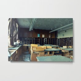 Empty Science Lab Metal Print