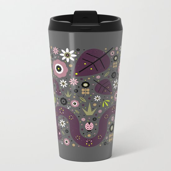 Snakes in the Grass  Metal Travel Mug