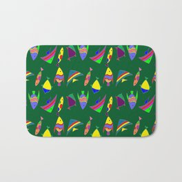 FISHES ON GREEN Bath Mat
