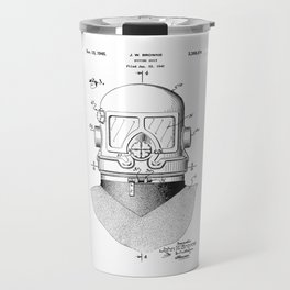 patent art Browne 1945 Diving suit Travel Mug