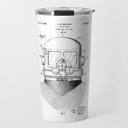 patent art Browne 1945 Diving suit Travel Mug