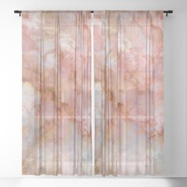 Beautiful & Dreamy Rose Gold Marble Sheer Curtain