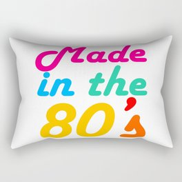 Made in The 80s Funny gift for mom and dad Rectangular Pillow