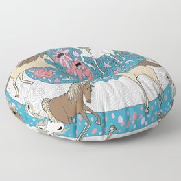 All the Pretty Horses Floor Pillow