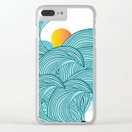 surfing 3 Clear iPhone Case