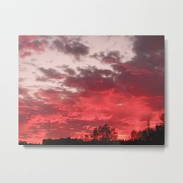 Bloody sunset Metal Print