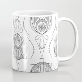 Art Deco 40 . Light Grey background Forever . Coffee Mug