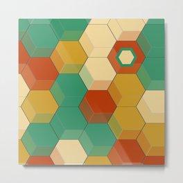 Honey Combs Baroque Metal Print