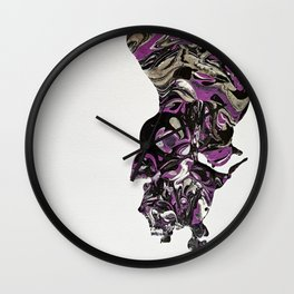Purple Overpour - Number 1 Wall Clock