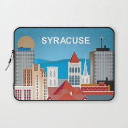 Syracuse, New York - Skyline Illustration by Loose Petals Laptop Sleeve