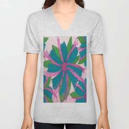 Tropical Wildflowers Unisex V-Neck