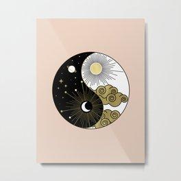 Yin and Yang Theme Metal Print