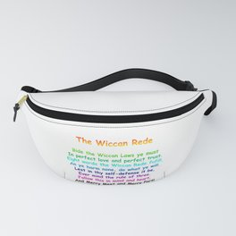 The Wiccan Rede Fanny Pack