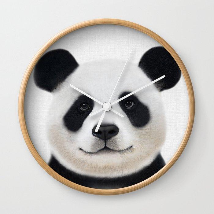 Panda Print Nursery Art Decor Animal Baby Animals Wall Clock By Nikiandneo