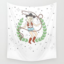 Cowgirl Wall Tapestry