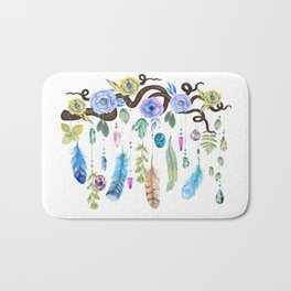 Wild Wood Roses And Twisted Branches Spirit Gazer Bath Mat
