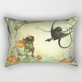 Pumpkin Discussions Rectangular Pillow